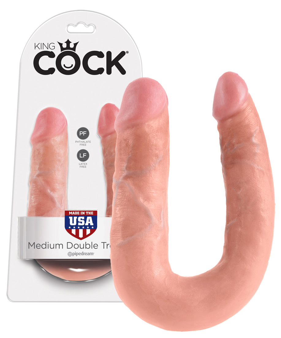 Pipedream King Cock Thick Double Dildo Medium - dvojité dildo (34,6cm)