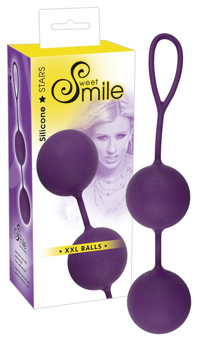 SWEET SMILE XXL Balls - XXL venušine guličky (fialové)