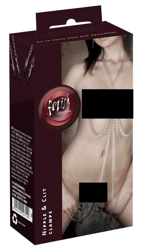 Sexi retiazka so štipcami, pre ženy