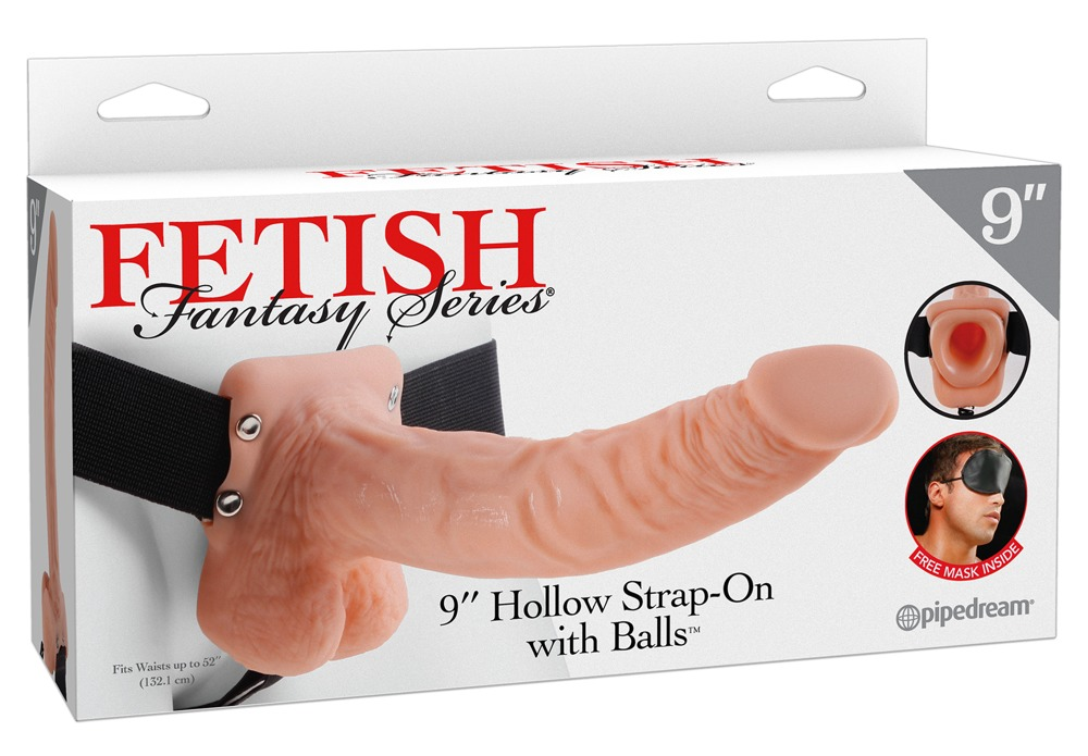 Fetish Fantasy HOLLOW STRAP-ON WITH BALLS - 9 INCH