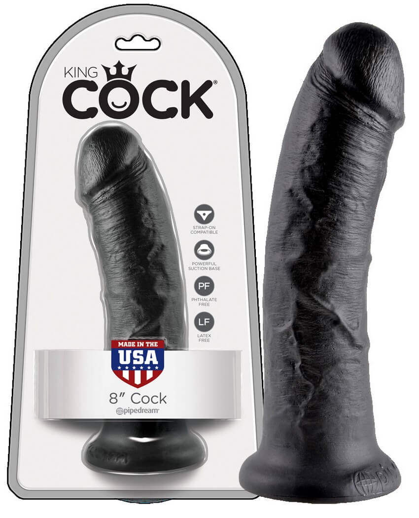 KING COCK 8 INCH - BLACK
