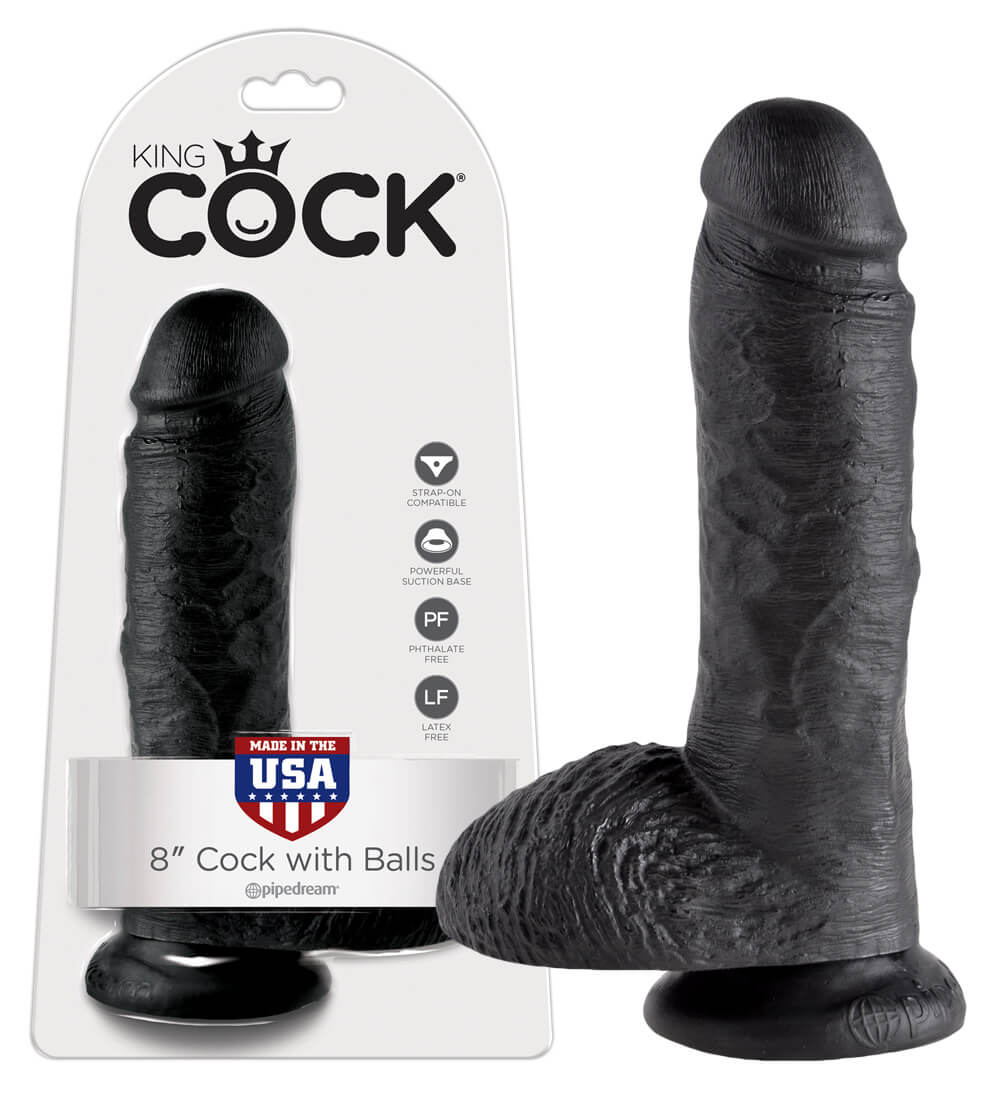 KING COCK 8 INCH BALLS