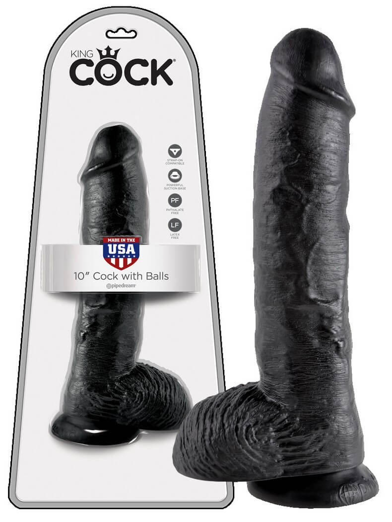 KING COCK 10 INCH BALLS - NATUR