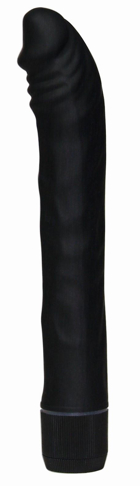 Klasszikus (rúdvibrátor) / Bársonyos kéj vibrátor - fekete