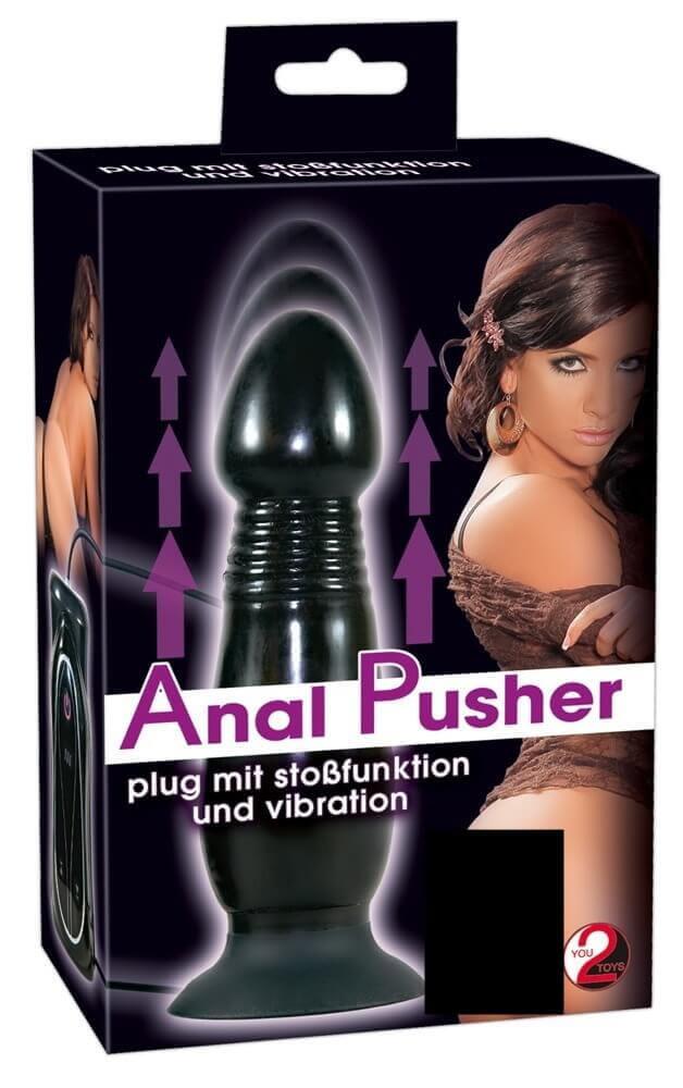 Vibrációs anál kényeztetők / Lökő, anál vibrátor (fekete)