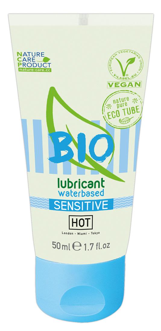 HOT Bio Sensitive – vegánsky lubrikant na báze vody (50ml)