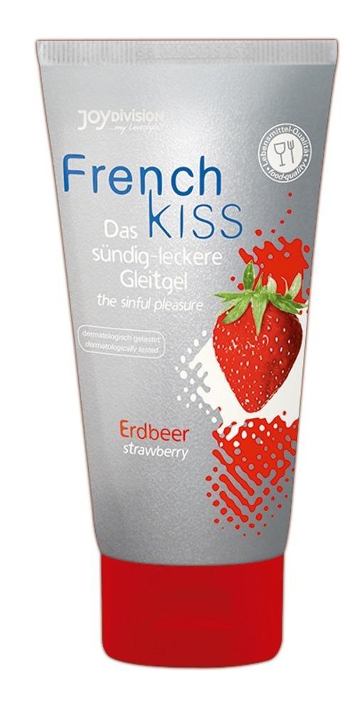JoyDivision French Kiss Erdbeer - lubrikačný gél na báze vody jahodový (75ml)