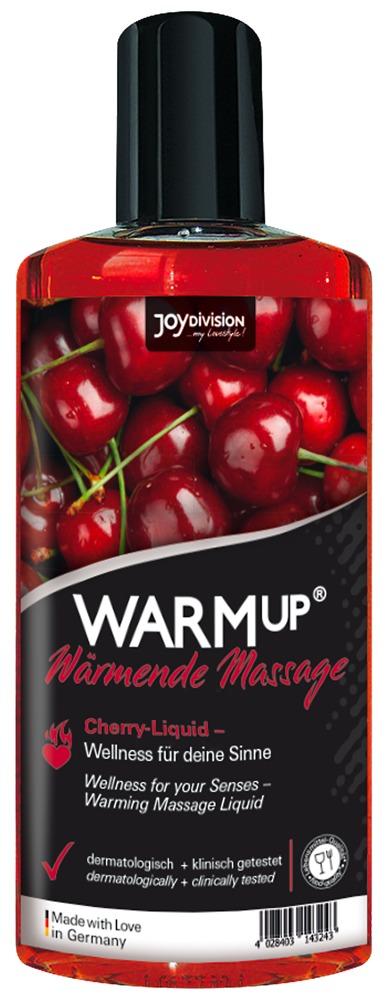 JoyDivision Warm Up Cherry - hrejivý masážny olej čerešňový (150ml)