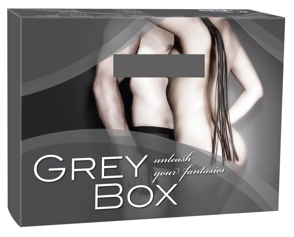 Fifty Shades og Grey  Grey Box - súprava erotických pomôcok (10 dielna)
