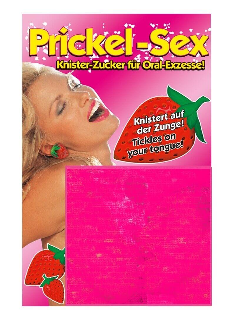 Erotic Entertaiment Prickel Sex - chrumkavé cukríky s jahodovou príchuťou (25g)