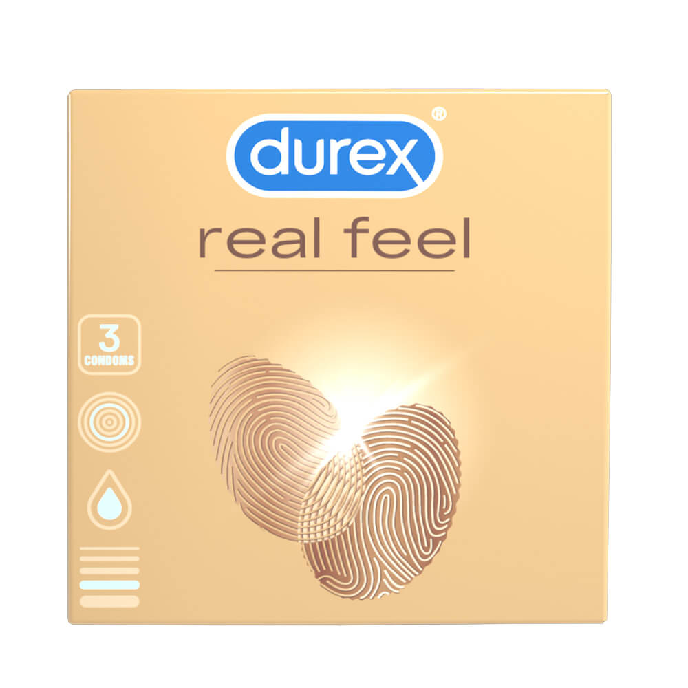Durex Real Feel - latexmentes óvszer (3db)
