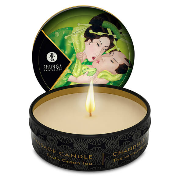 Shunga Massage Candle Green Tea 30ml